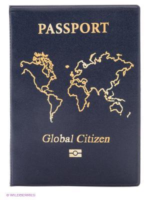 Обложка для паспорта Global citizen Kawaii Factory. Цвет: темно-синий