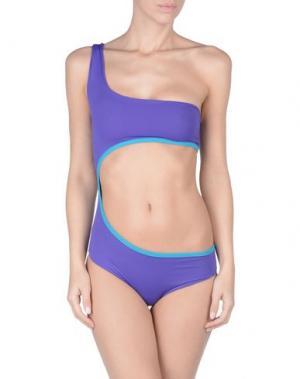 Слитный купальник S AND. Цвет: фиолетовый