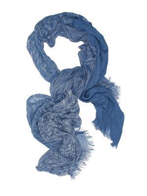 Шарф Лунный камень с бахромой Nothing but Love. Цвет: синий, белый, серо-голубой