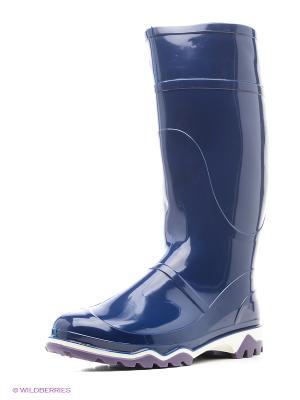 Резиновые сапоги Дюна. Цвет: темно-синий