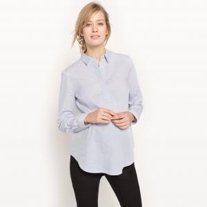 Рубашка из хлопка для периода беременности R essentiel. Цвет: небесно-голубой