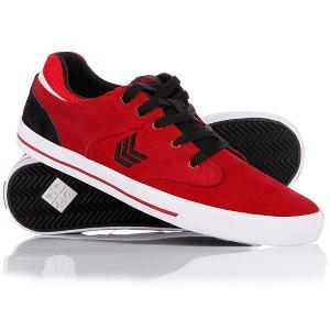 Кеды кроссовки низкие  Lockdown Red/Black VOX. Цвет: бордовый