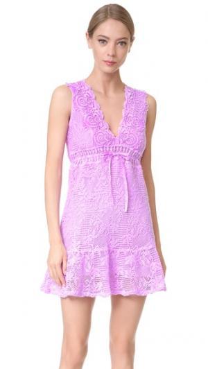 Платье с V-образным вырезом Temptation Positano. Цвет: lilla fula