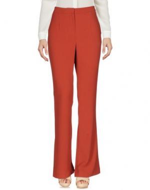 Повседневные брюки TY-LR. Цвет: кирпично-красный