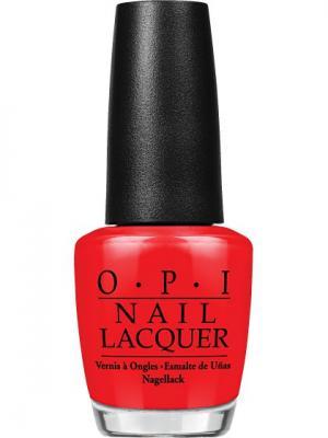 Opi Лак для ногтей Big Apple Red, 15 мл. Цвет: красный