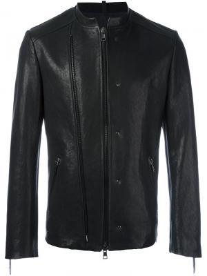 Куртка без воротника с двойной застежкой-молнией Tom Rebl. Цвет: чёрный
