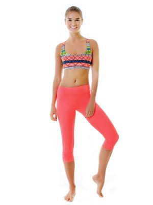 Капри Janu Bright Urban Yoga. Цвет: коралловый