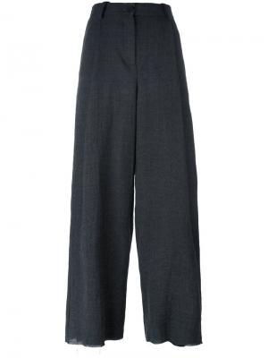 Широкие брюки Masnada. Цвет: серый