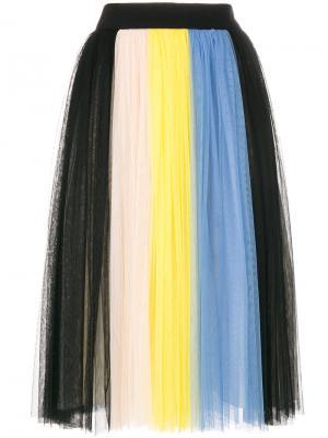 Плиссированная юбка Fausto Puglisi. Цвет: многоцветный