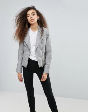 BLANK NYC Куртка из искусственной кожи Steal Your Thunder. Цвет: серый