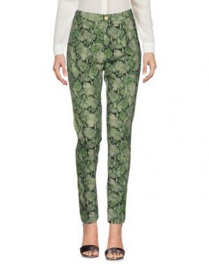 Повседневные брюки HISTORY. Цвет: зеленый