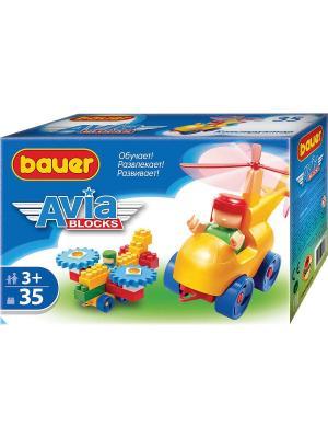 Конструктор Bauer серии Avia 35 эл. (в коробке) 54/54. Цвет: желтый, оранжевый, золотистый