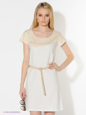 Платье American Outfitters. Цвет: белый, золотистый, кремовый