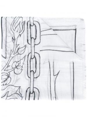 Шарф с линейным узором Enfants Riches Déprimés. Цвет: чёрный
