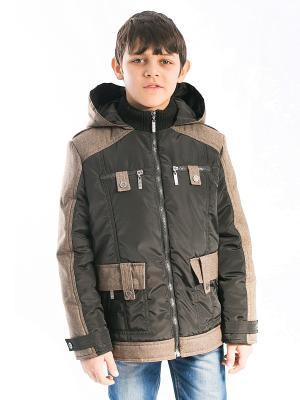 Куртка Лева Аксарт. Цвет: темно-серый, бронзовый, серый