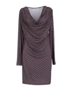 Короткое платье SIYU. Цвет: фиолетовый