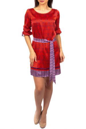 Платье Hale Bob. Цвет: красный