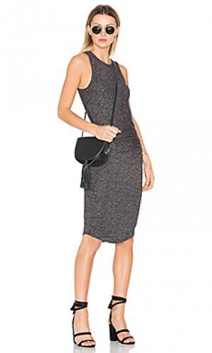 Платье миди portia Riller & Fount. Цвет: уголь