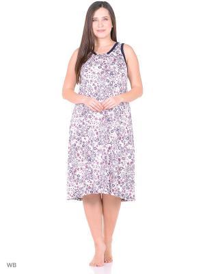 Ночная сорочка женская lawiggi. Цвет: белый