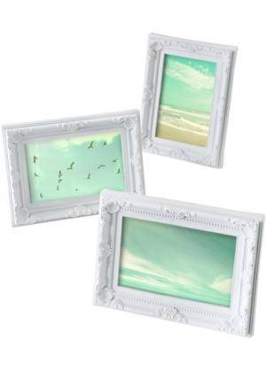 Рамки для фотографий Орнамент (3 шт.) (белый) bonprix. Цвет: белый