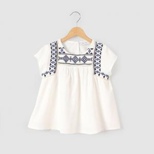 Блузка с короткими рукавами 3-12 лет abcd'R. Цвет: экрю