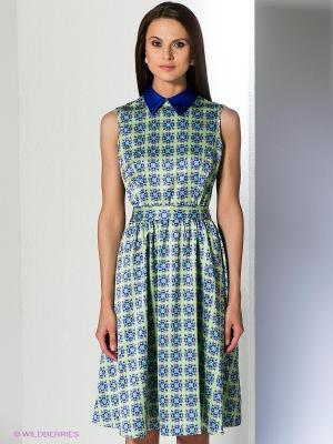 Платье Анна Чапман. Цвет: светло-зеленый, фиолетовый