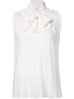 Блузка с завязками на шее Co. Цвет: белый