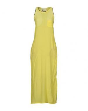 Длинное платье 8PM. Цвет: желтый