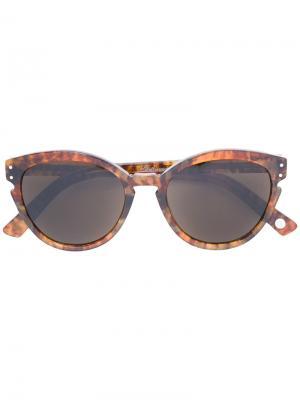 Солнцезащитные очки в оправе кошачий глаз Ahlem. Цвет: коричневый