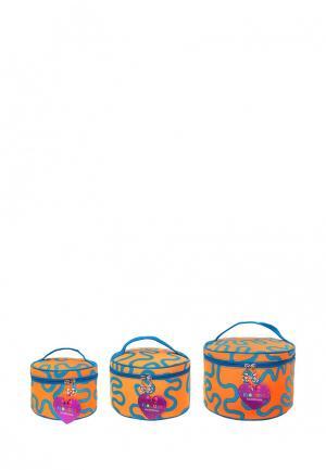 Набор из 3 косметичек El Casa. Цвет: оранжевый
