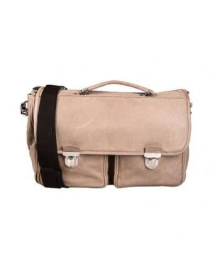 Деловые сумки D'AMICO. Цвет: песочный