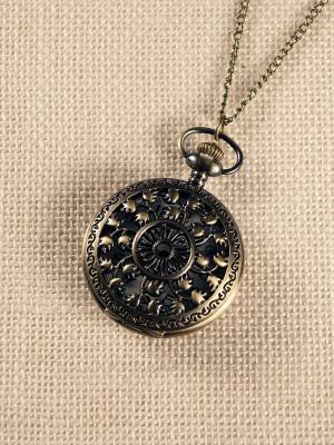 Кулон-часы Резные листочки Mitya Veselkov. Цвет: бронзовый