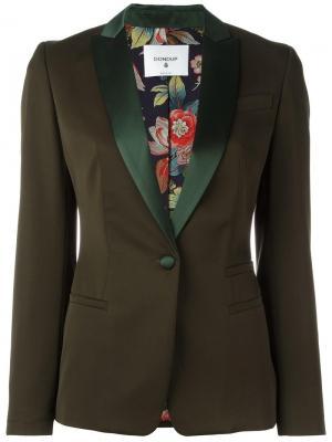 Пиджак с лацканами карманами Dondup. Цвет: зелёный