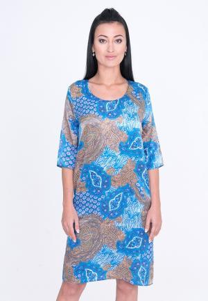 Платье Лярго. Цвет: голубой