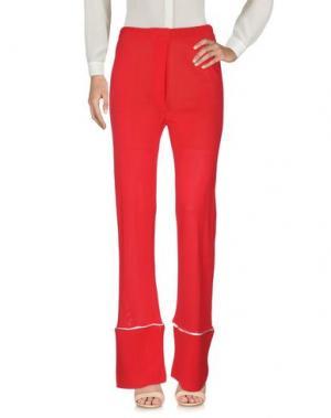 Повседневные брюки LANEUS. Цвет: красный