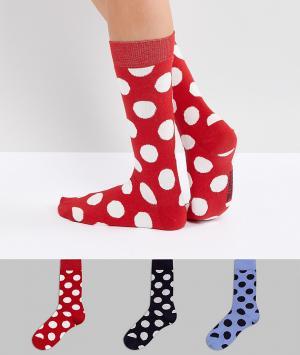 Essentiel Antwerp 3 пары носков Pouvry. Цвет: черный