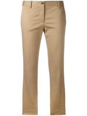 Расклешенные укороченные брюки Alberto Biani. Цвет: телесный
