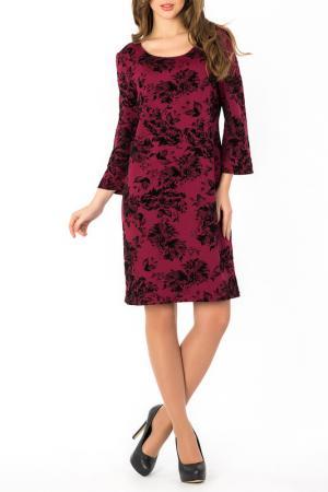 Платье S&A style. Цвет: бордово-черный