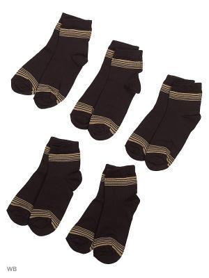Носки 5 пар Тульский трикотаж. Цвет: темно-коричневый