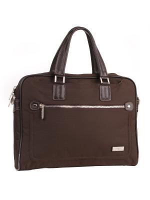 Папки-сумки Pola. Цвет: темно-коричневый