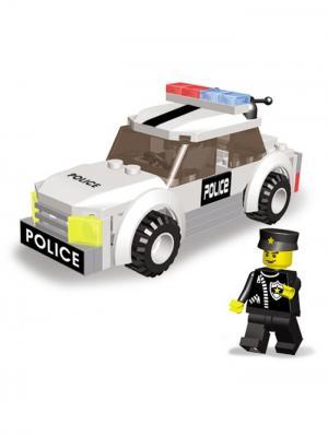 Конструктор SuperBlock Police Патрульная Машина M Склад Уникальных Товаров. Цвет: белый