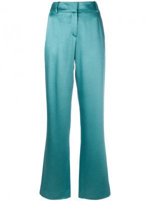 Расклешенные брюки с высокой талией Sies Marjan. Цвет: зелёный