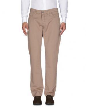 Повседневные брюки BIKKEMBERGS. Цвет: хаки