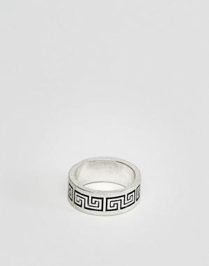 ASOS Серебристое кольцо DESIGN. Цвет: серебряный