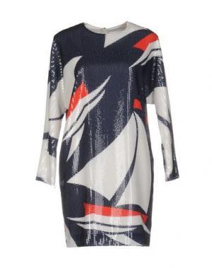Короткое платье ALEXANDER TEREKHOV. Цвет: темно-синий