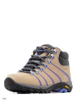 Ботинки KENIA Ascot. Цвет: светло-бежевый, сиреневый