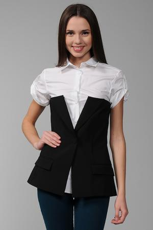 Блуза Jean Paul Gaultier. Цвет: черно-белый