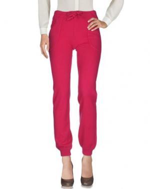Повседневные брюки YES LONDON. Цвет: розовато-лиловый