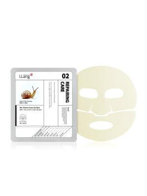 Омолаживающая маска для проблемной кожи с улиточной секрецией и экстрактом красного женьшеня, 25 гр. Llang. Цвет: белый