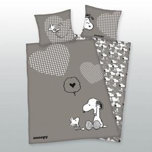 Комплект постельного белья SNOOPY. Цвет: серый/ белый